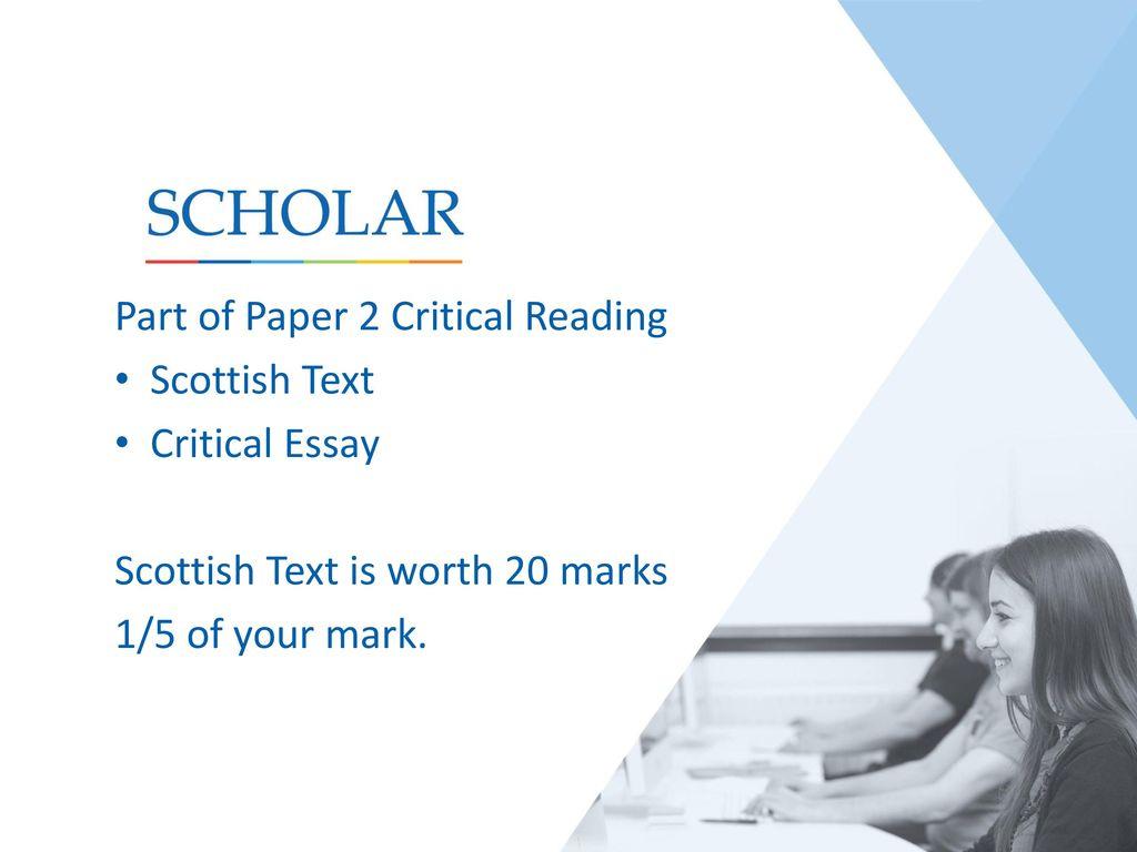 national 5 english critical essay questions Alternatives for writing higher english critical essays write a higher english (or national 5) persuasive essay for english close reading – tone questions.