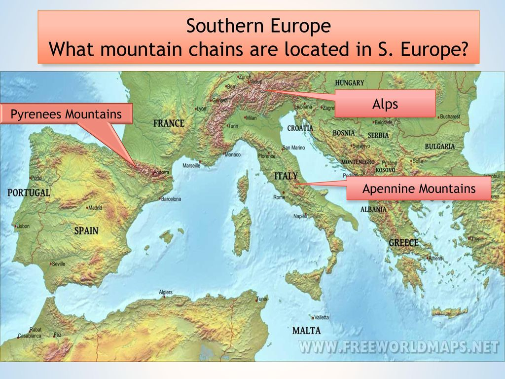 Europe Map Apennines Mountains 46795 | INFOVISUAL