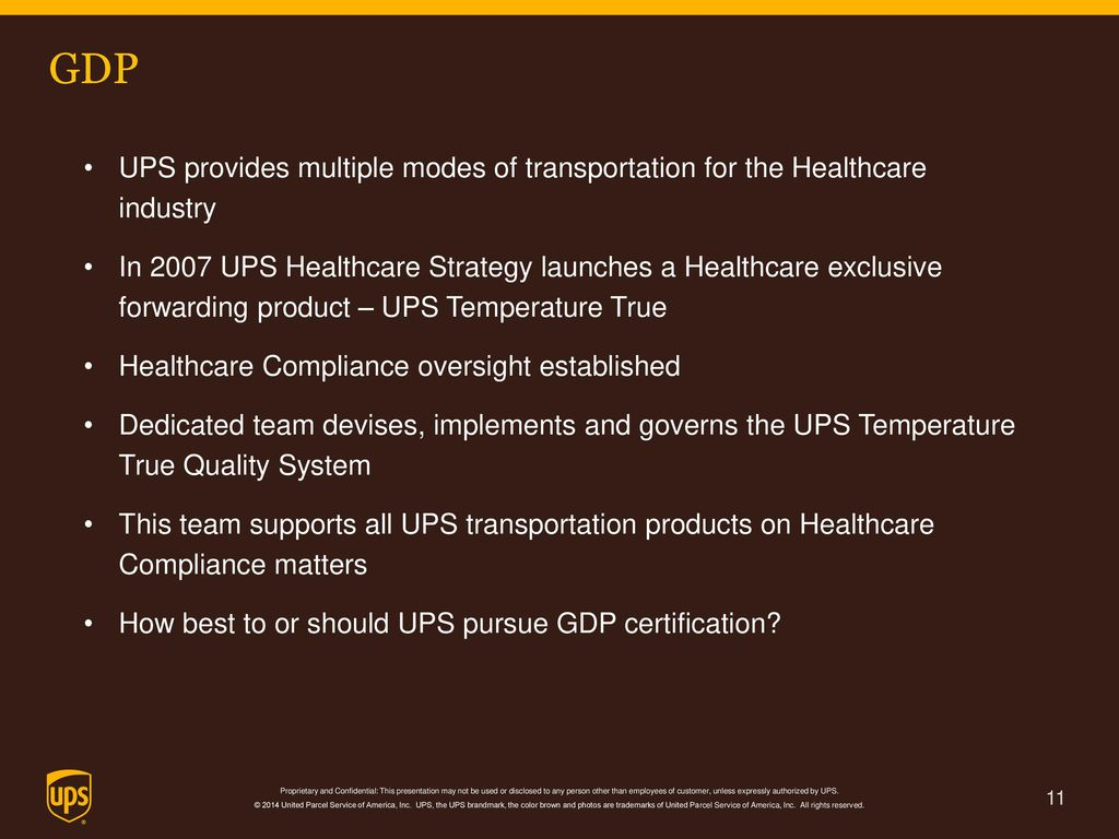 Ups gdp ceiv september 21st 2016 hpclc ppt video online gdp ups provides multiple modes of transportation for the healthcare industry 1betcityfo Choice Image