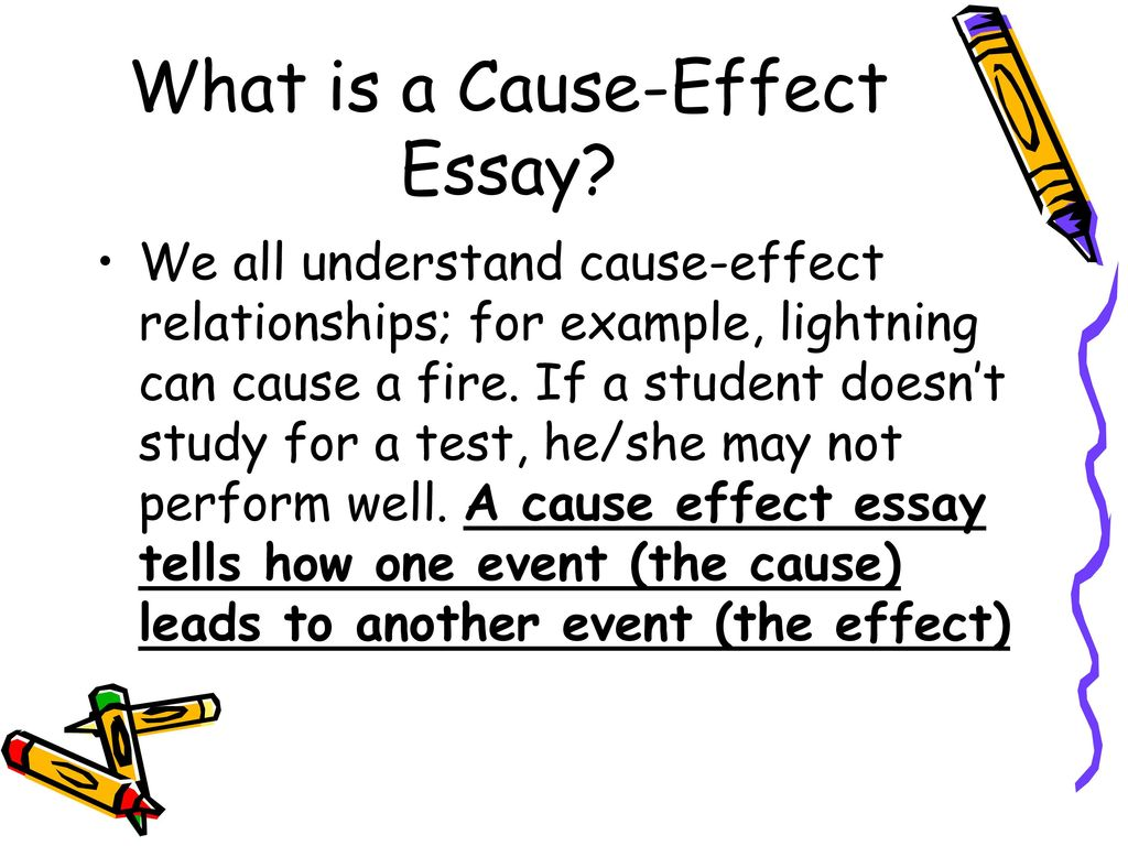 how do we write a cause and effect essay Our writing firm provides customised cause and effect essay for college students at much lower prices get good grades in school from now as you let us write your essays.