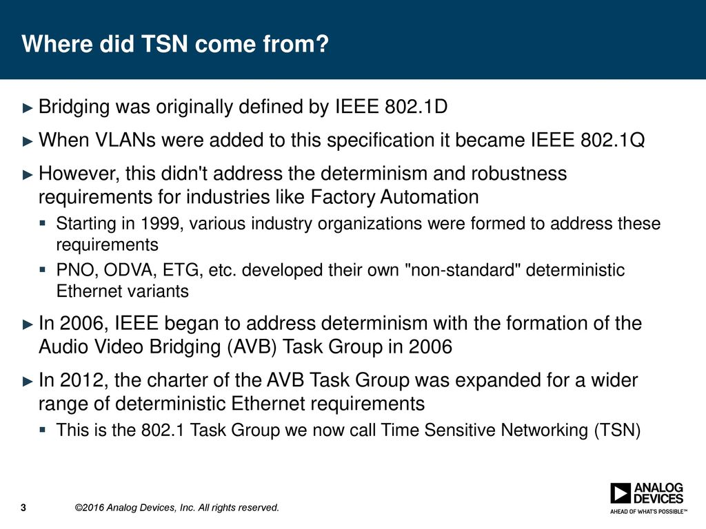 Time sensitive networks for industrial automation systems for Ieee definition