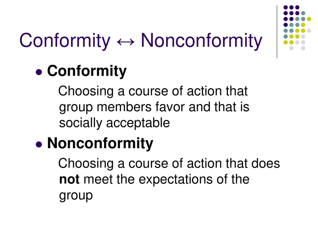 conformity coursework Standardslearn is a free educational resource provided by american national standards institute to educate on standards and conformity assessment.