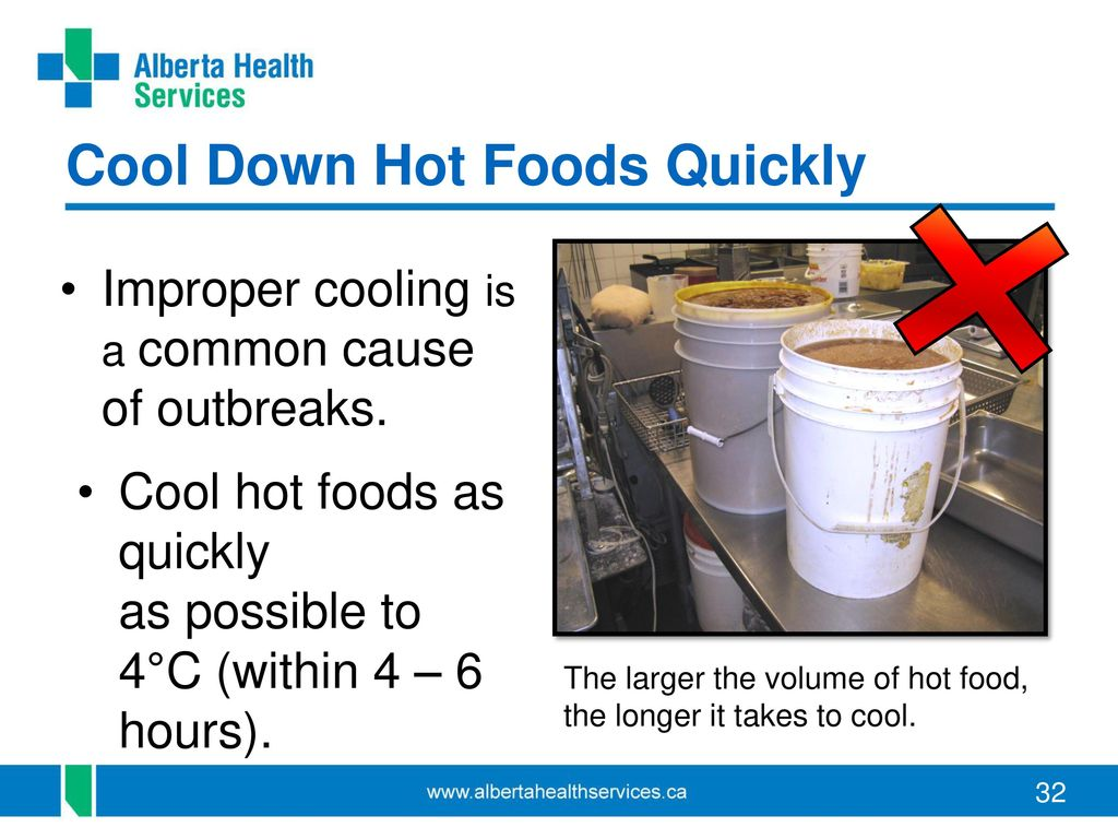 Cooling Food Properly : Alberta food safety facts ppt download