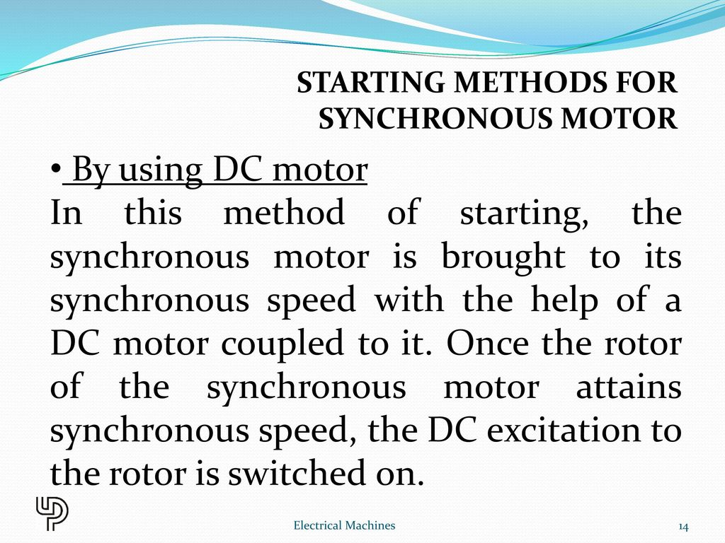 Chapter 10 synchronous motor electrical machines ppt for Synchronous motor speed control method