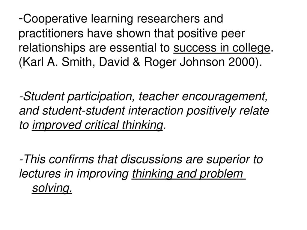 Collaborative Learning In Classroom Interaction ~ Cooperative learning in the college classroom ppt download
