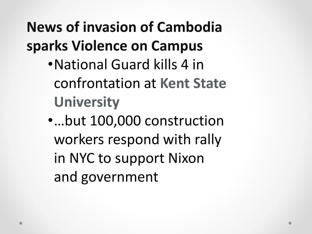 an analysis of the nixons invasion of cambodia This is not an invasion of cambodia the areas in which these attacks will be launched are completely occupied and controlled by north vietnamese forces.