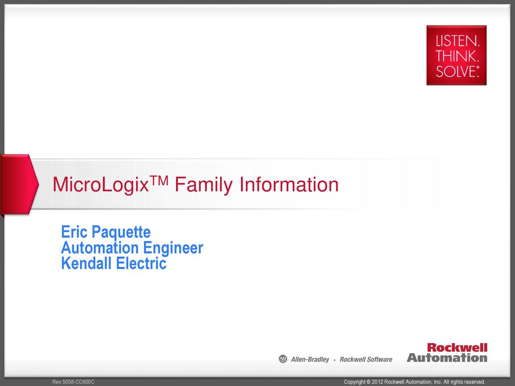 MicroLogixTM Family Information on