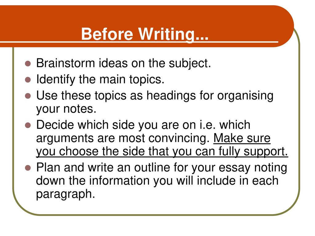 Write my brainstorming essay ideas