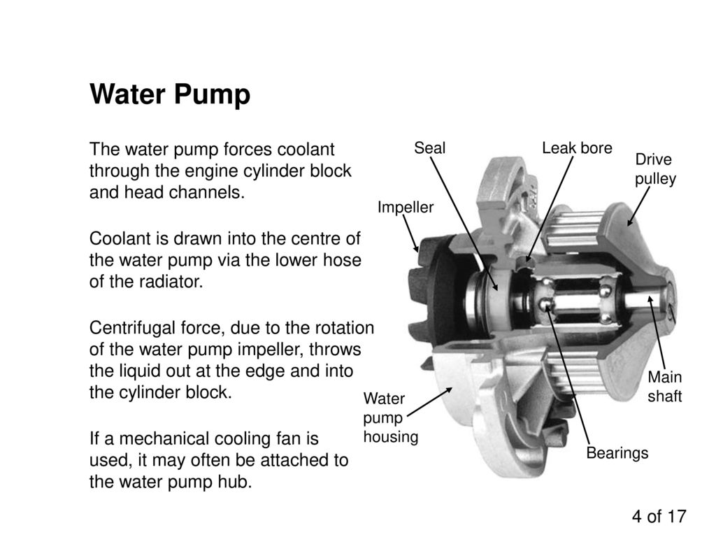Water Seal For Centrifugal Blowers : Engine cooling systems ppt download