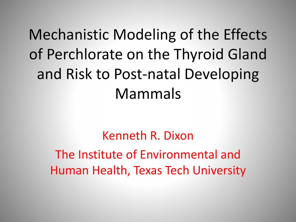 The Institute of Environmental and Human Health, Texas Tech ...