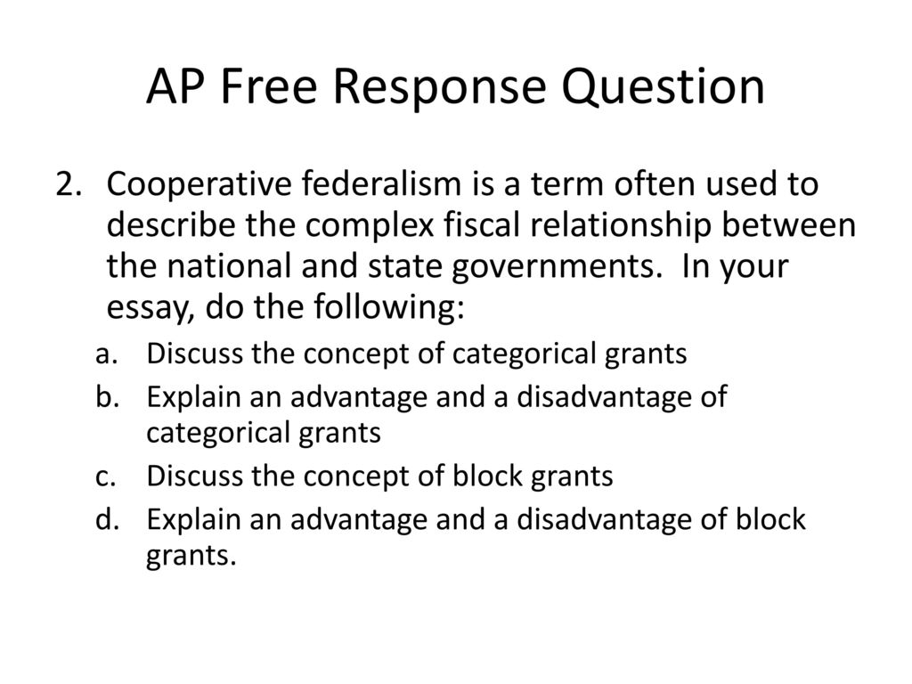 Fiscal Federalism Essay Homework Example   Words  Fiscal Federalism Essay