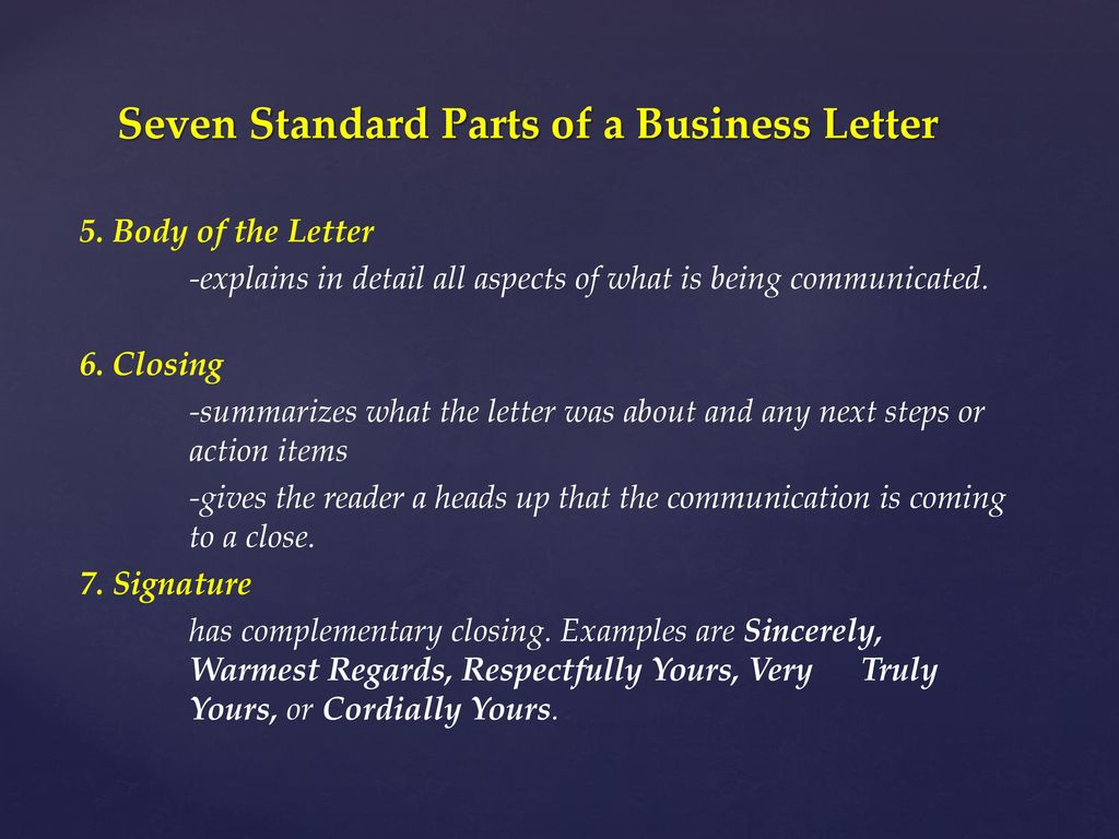 Formats for Letters and Memos The Three Way
