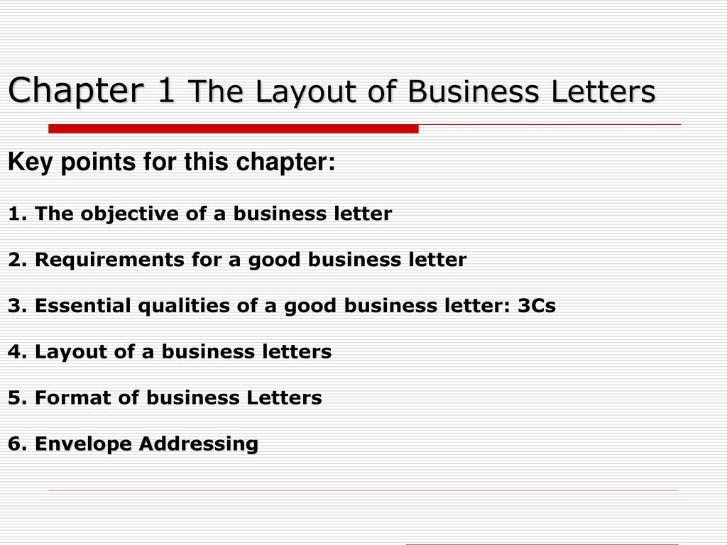 English Letter Envelope Format. Envelope Addressing  Chapter 1 The Layout of Business Letters Key points for this chapter English Correspondence ppt video online download
