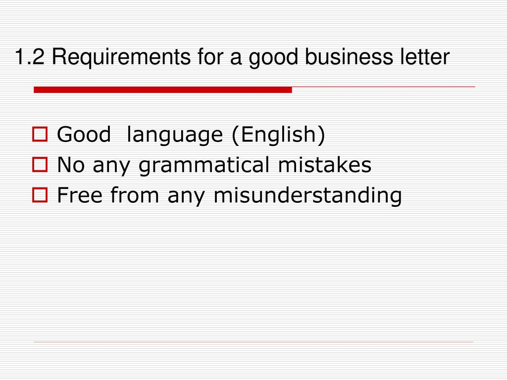 business letter requirements