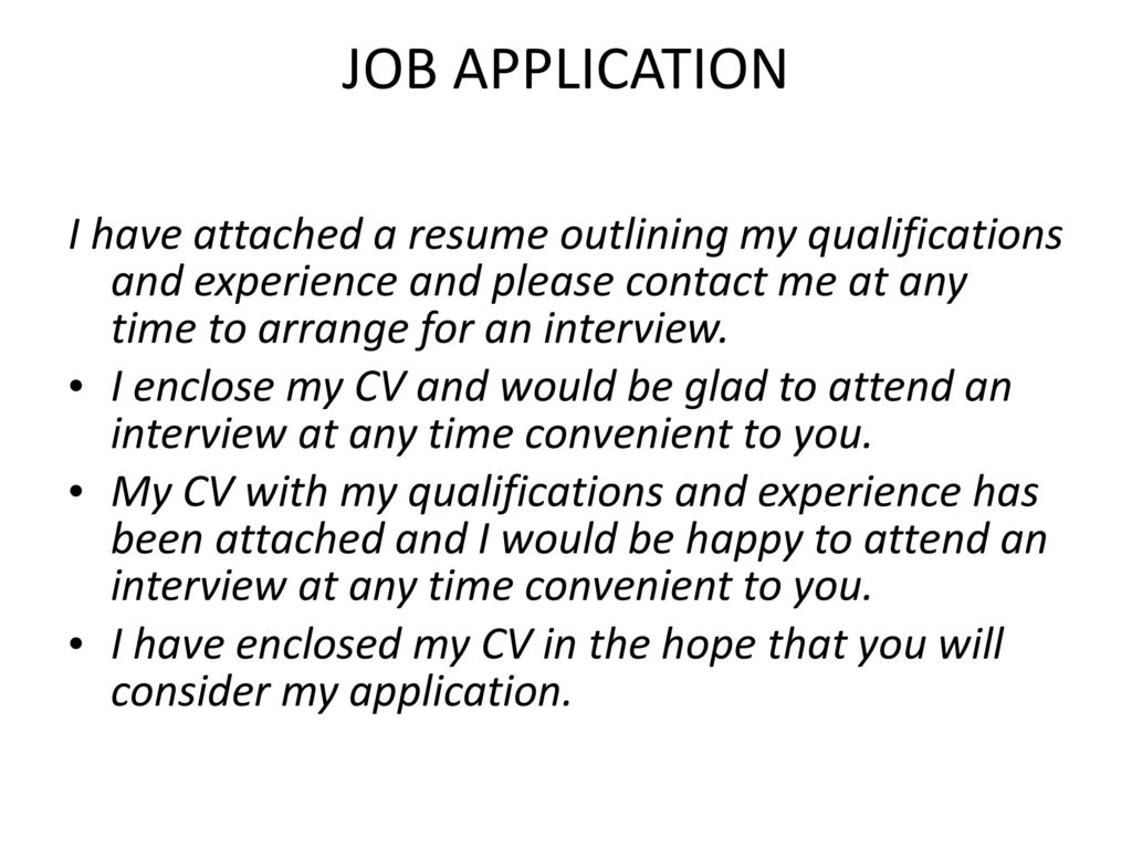 i have attached my resume