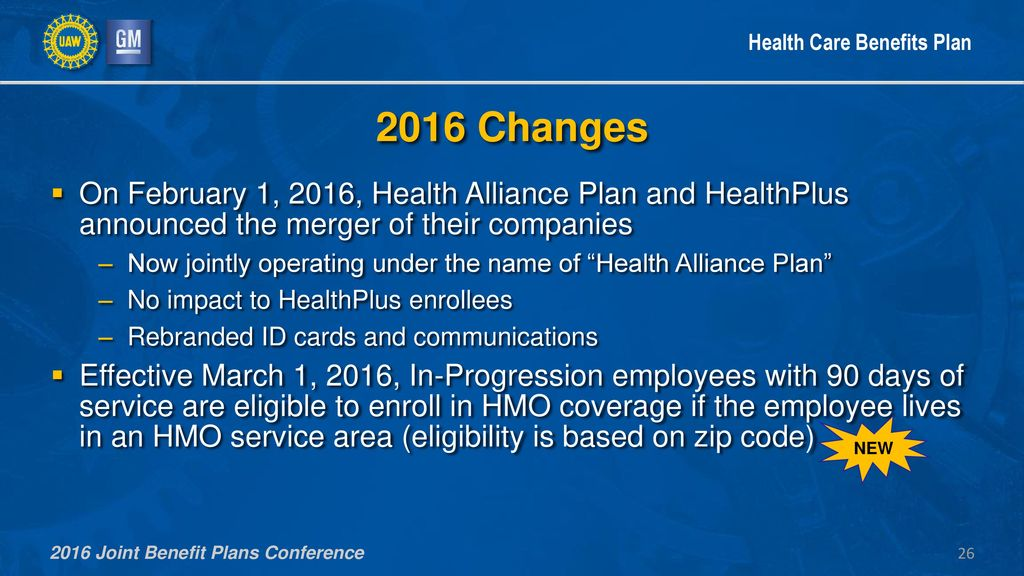 2016 UAW-GM Joint Benefit Plans Conference - ppt download