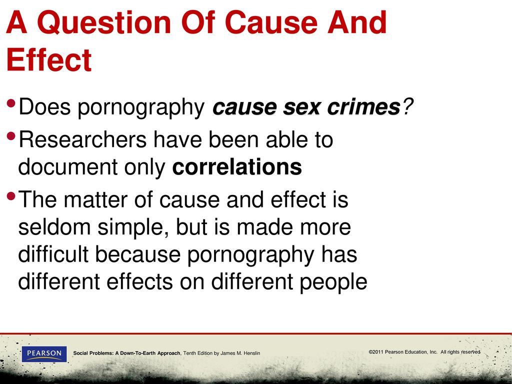 Social causes for sex crimes
