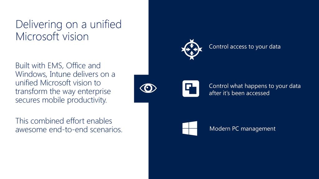 Delivering on a unified Microsoft vision