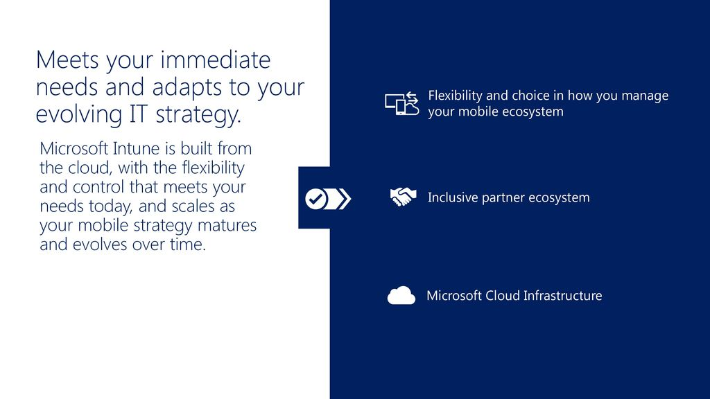 Meets your immediate needs and adapts to your evolving IT strategy.