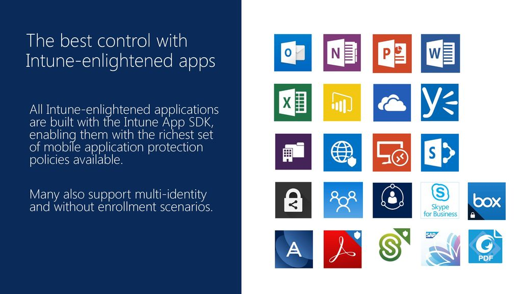 The best control with Intune-enlightened apps