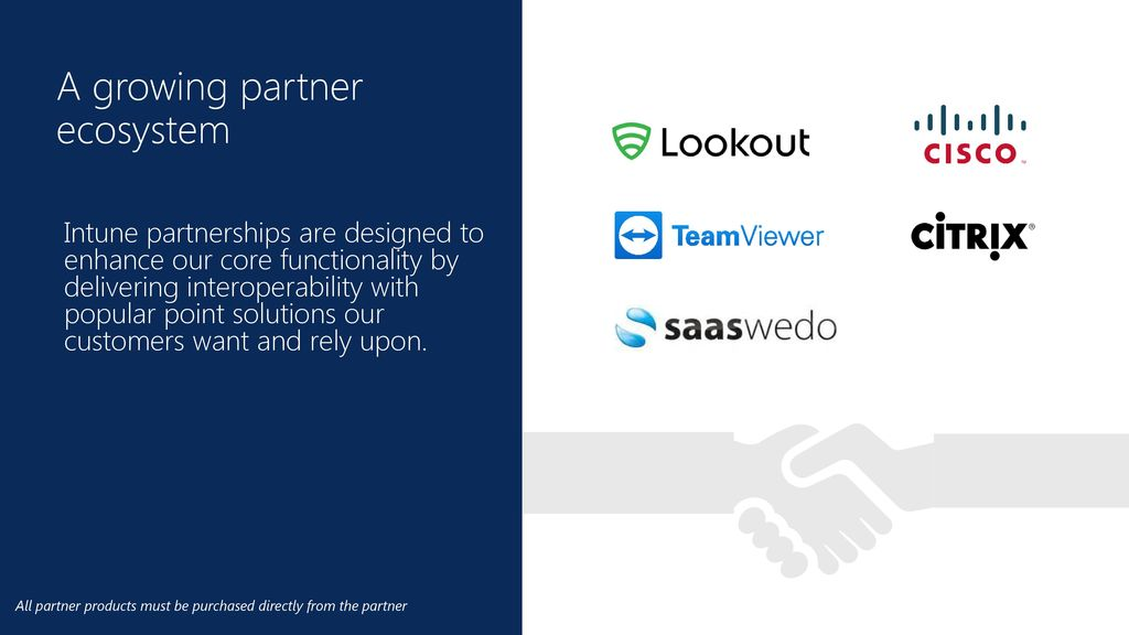 A growing partner ecosystem