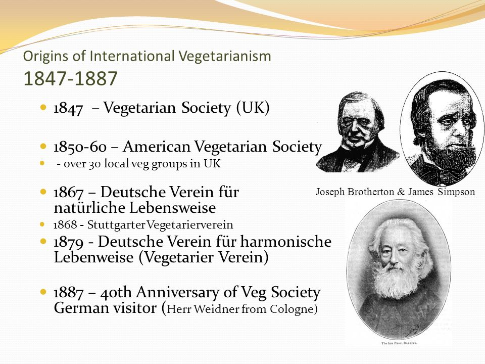 Origins of International Vegetarianism 1847-1887