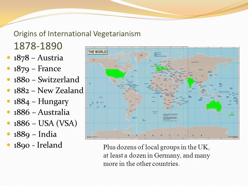 Origins of International Vegetarianism 1878-1890