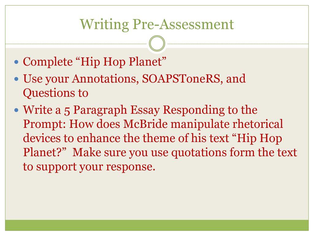 rhetoric essay format