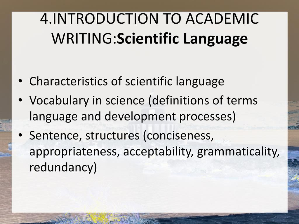 intro to academic writing