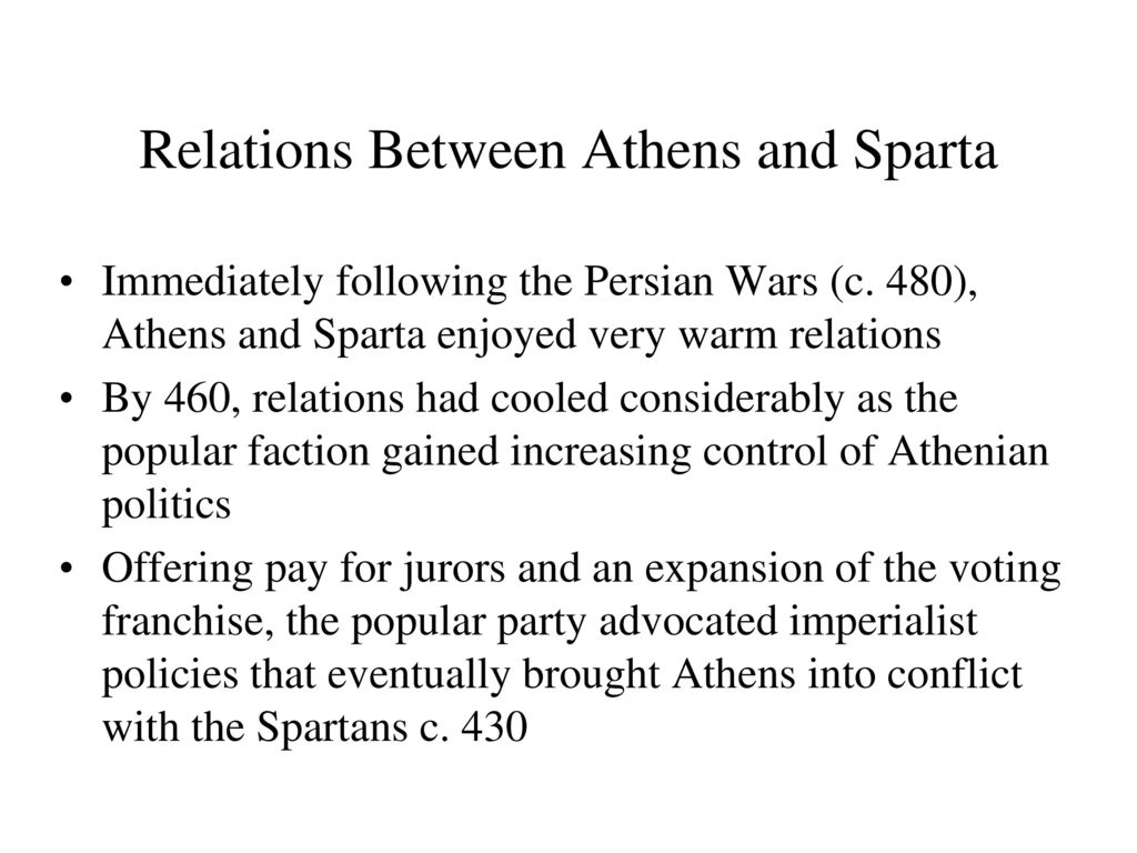 persian wars the division of power between athens and sparta We will take a look at the first cold war in history, between athens athens' rise to power between the persian war conflict between athens and sparta.