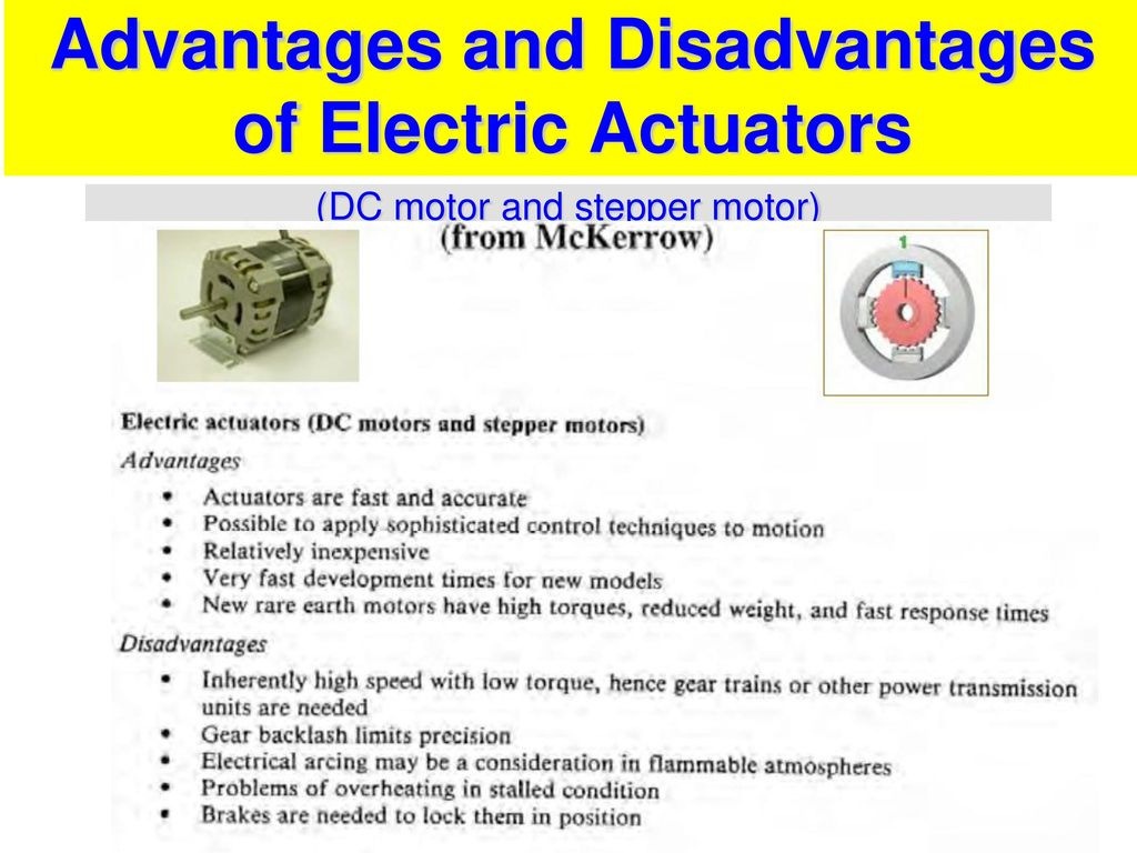 Robot actuators ppt download for Advantages of ac motor