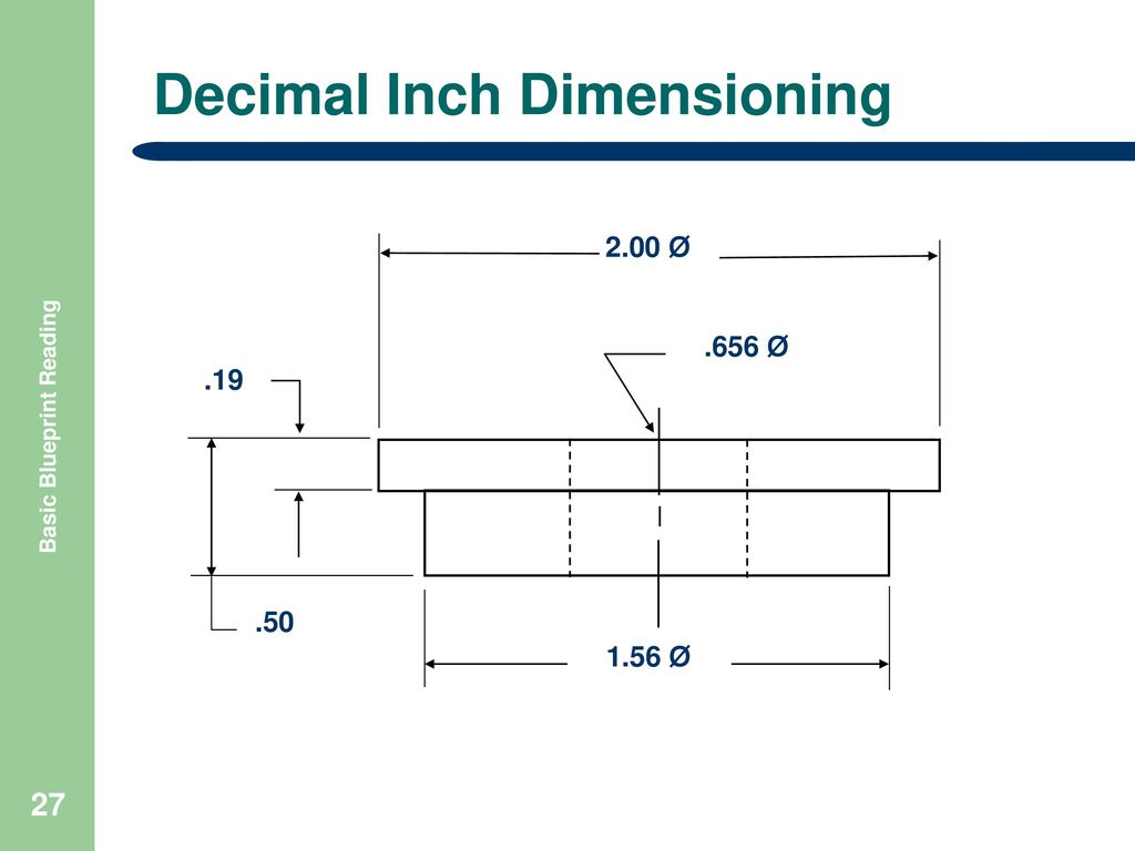 Basic blueprint reading ppt download 27 decimal inch dimensioning basic blueprint reading malvernweather Choice Image