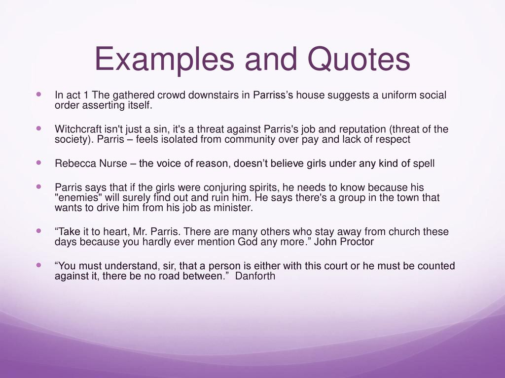 The Crucible Quotes Themes And Motifs The Crucible Ppt Video Online Download