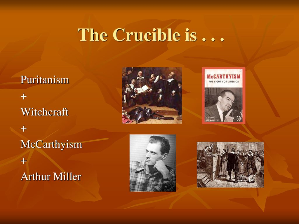 the religious aspects in the crucible Witch-hunt: mysteries of the salem witch trials  the crucible each lesson is  understands ideas that influenced religious and political aspects of colonial.