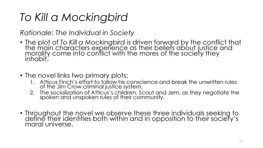 to kill a mockingbird moral values Examine character traits of fictional and historical figures in the two trials to see how they exhibit cultural values  to kill a mockingbird  what moral and.