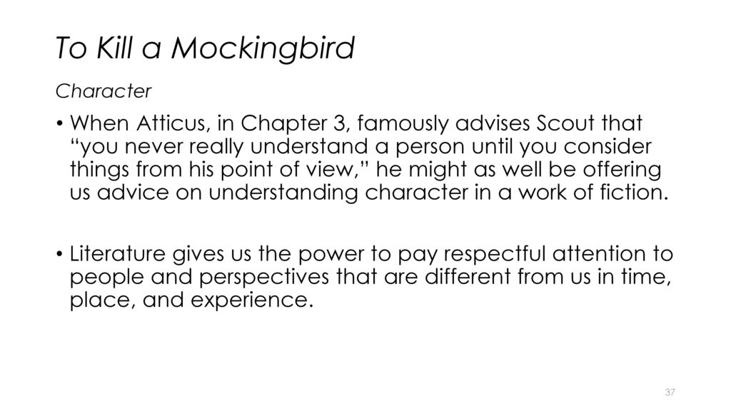 an analysis of first impressions of people in to kill a mockingbird by harper lee Kill mockingbird by harper lee you searched for:  to kill a mockingbird became both an instant bestseller and a critical success when it was first published in 1960 it went on to win the pulitzer prize in 1961 and was later made into an academy award-winning film, also a classic  t o kill a mockingbird harper lee published by penguin.