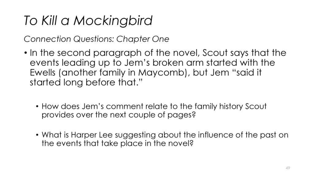 the families of the cunninghems and the ewells in to kill a mockingbird by harper lee To kill a mockingbird  to kill a mockingbird by harper lee, the radley place is said to be scary and dangerous  then the cunninghams, then the ewells, and .