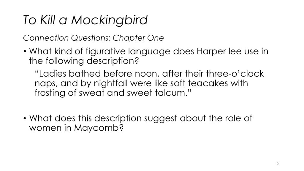 to kill a mockingbird chapter questions To kill a mockingbird is a perennial reading group favorite get suggestions for your book club meetings and download discussion questions here to get the conversation started today.