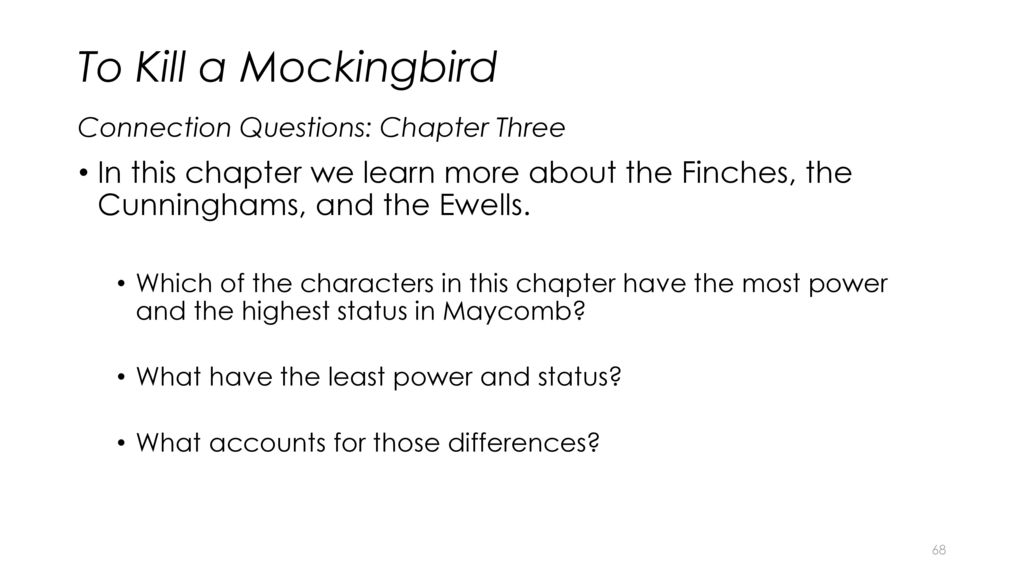 a comparison of the cunninghams and the ewells in lee harpers to kill a mockingbird Understanding to kill a mockingbird : a student casebook to  ewells most of part two is  in harper lee's to kill a mockingbird studies in american fiction 19.