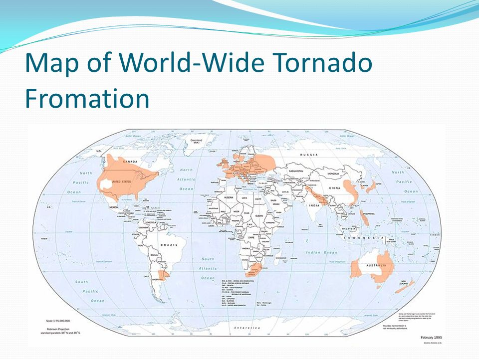 Map of World-Wide Tornado Fromation