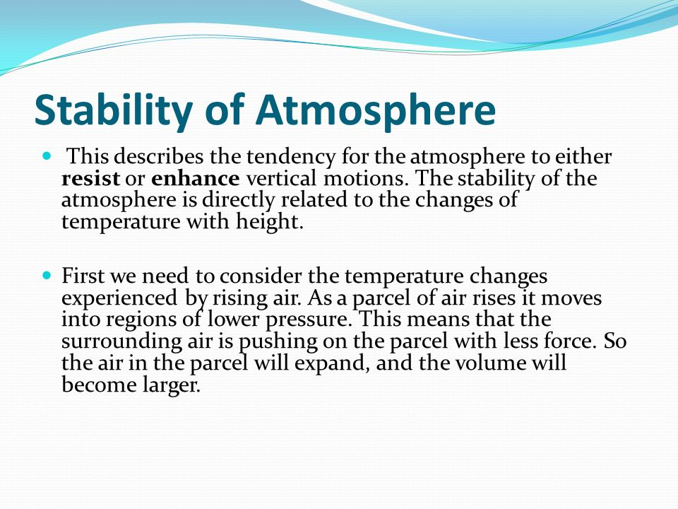 Stability of Atmosphere