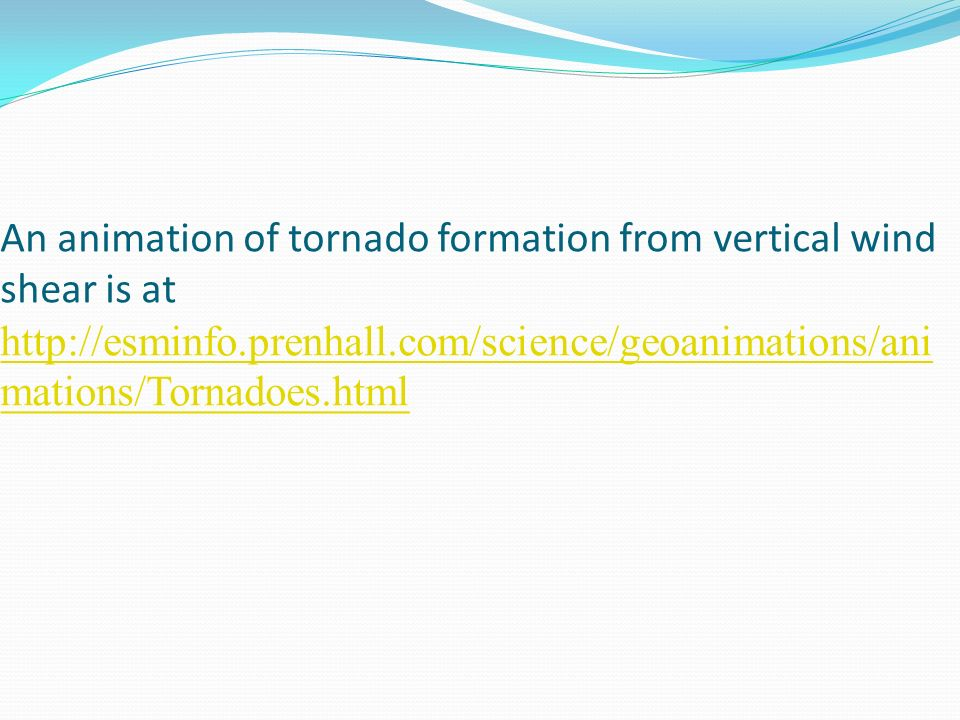An animation of tornado formation from vertical wind shear is at http://esminfo.prenhall.com/science/geoanimations/animations/Tornadoes.html