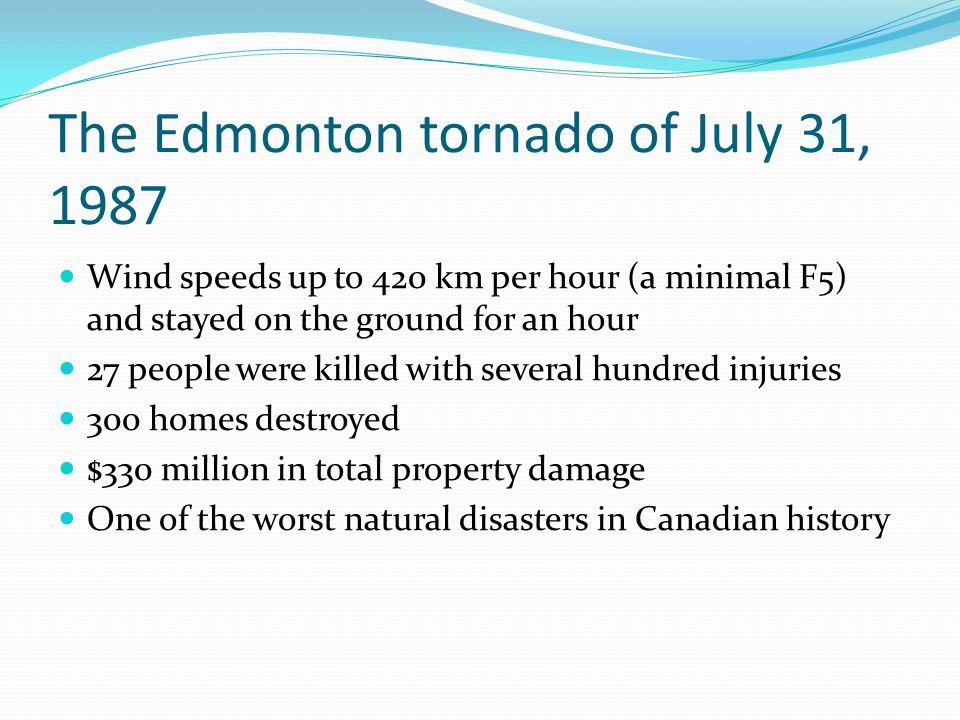 The Edmonton tornado of July 31, 1987