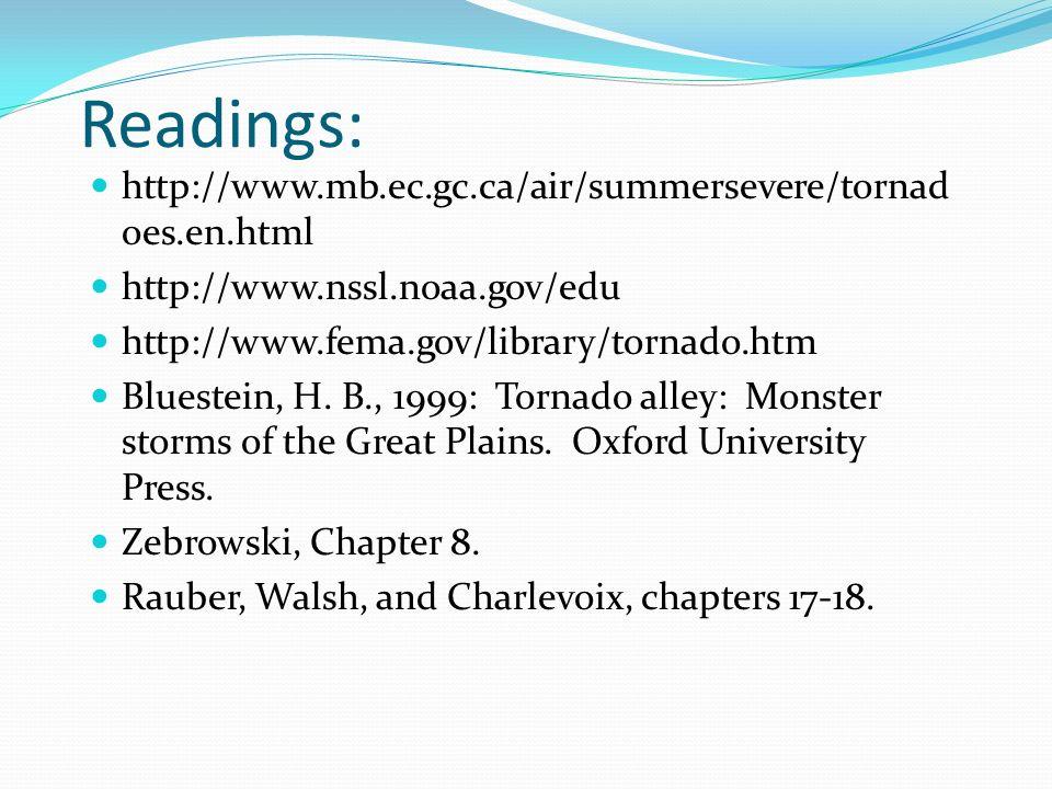 Readings: http://www.mb.ec.gc.ca/air/summersevere/tornadoes.en.html
