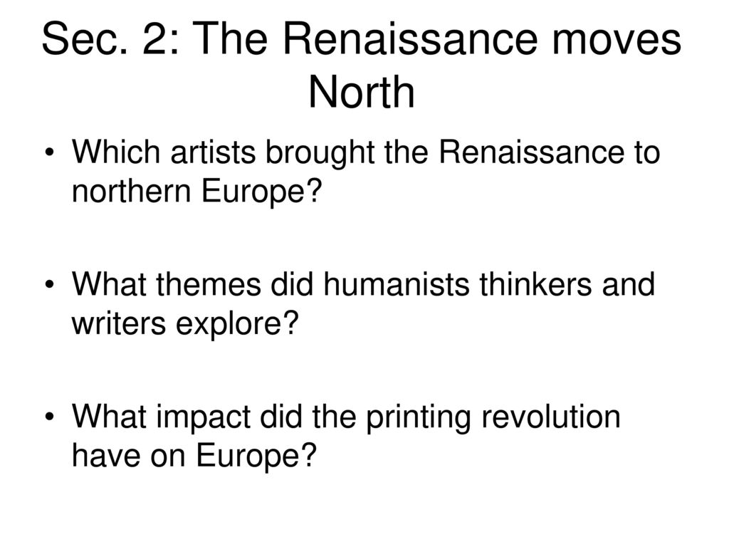 the renaissance move the north