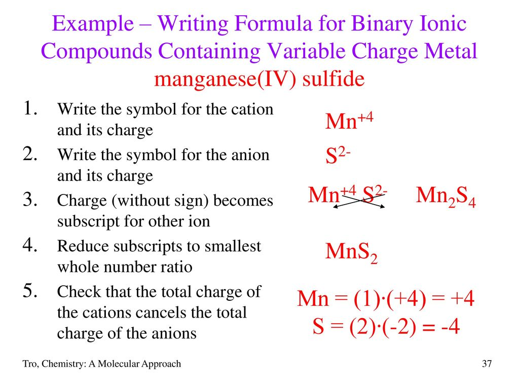 Chapter 3 molecules compounds and chemical equations ppt download example writing formula for binary ionic compounds containing variable charge metal manganeseiv biocorpaavc Images