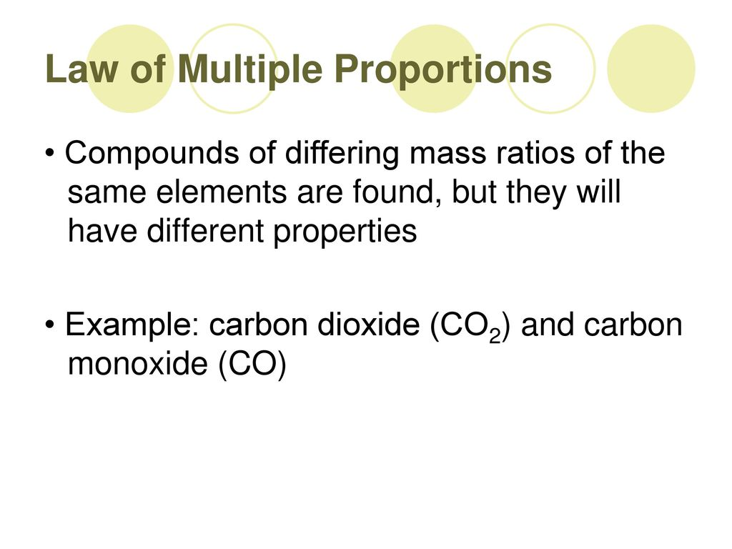 Worksheets Law Of Multiple Proportions law of definite composition and multiple proportions ppt proportions