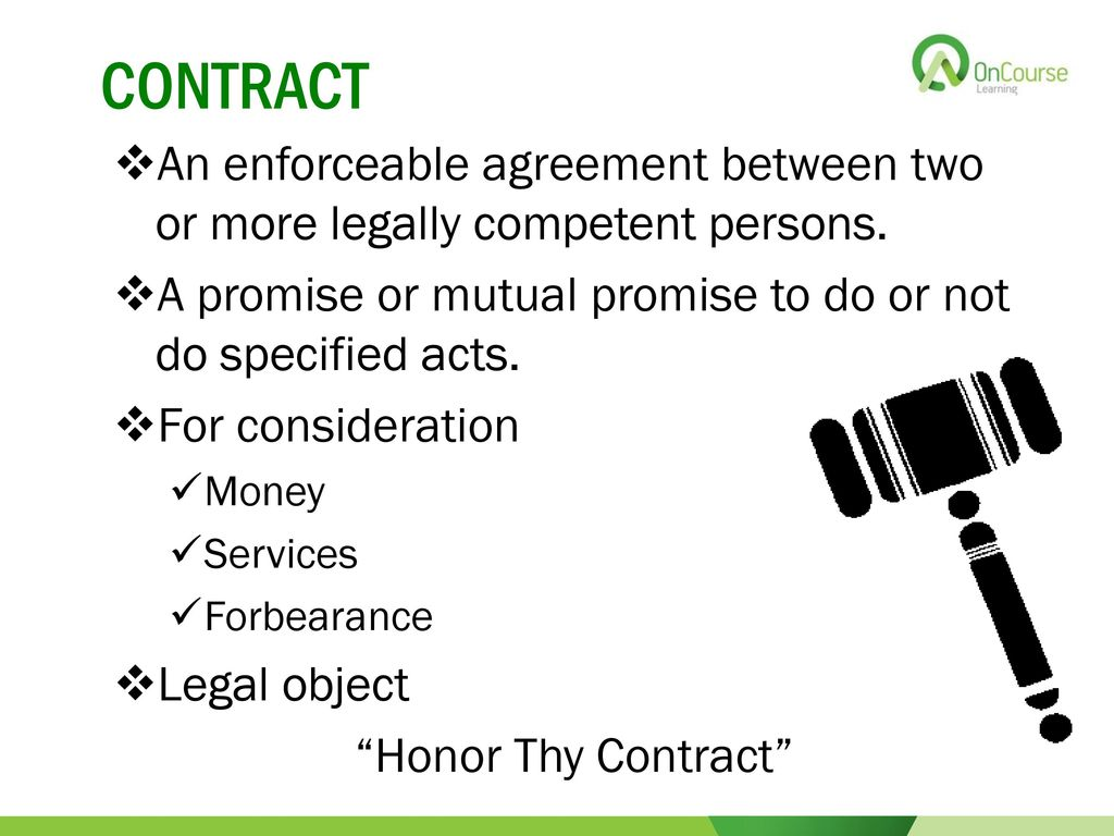 did the oral agreement create an enforceable lease A real estate lease is a type of contract in real estate, valid leases must contain certain provisions for the contract to be enforceable a real estate lease is a type of contract in real estate, valid leases must contain certain provisions for the contract to be enforceable.