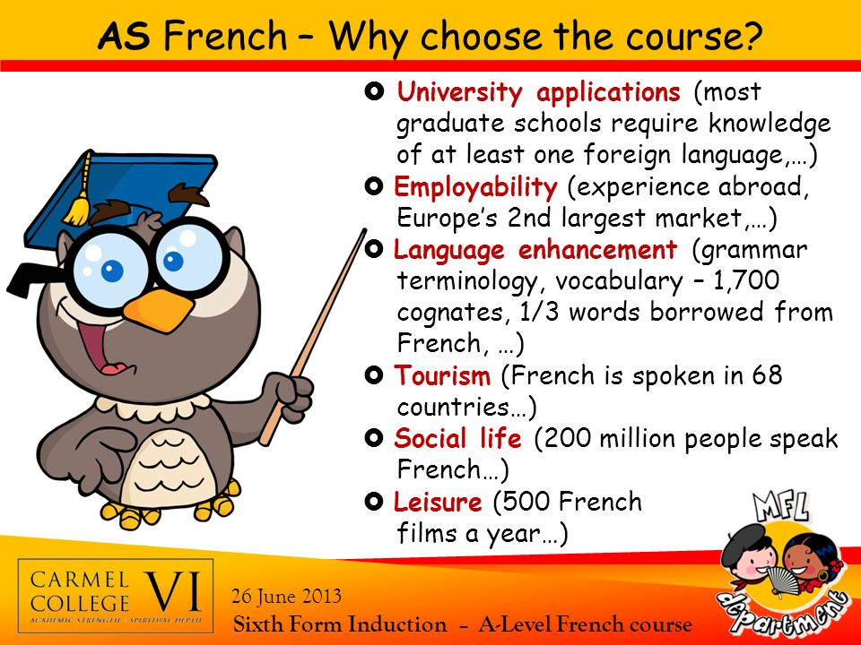 AS French – Why choose the course