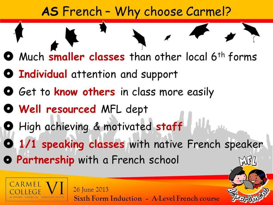 AS French – Why choose Carmel